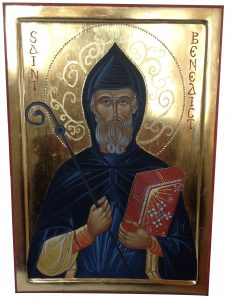 Large icon of St Benedict
