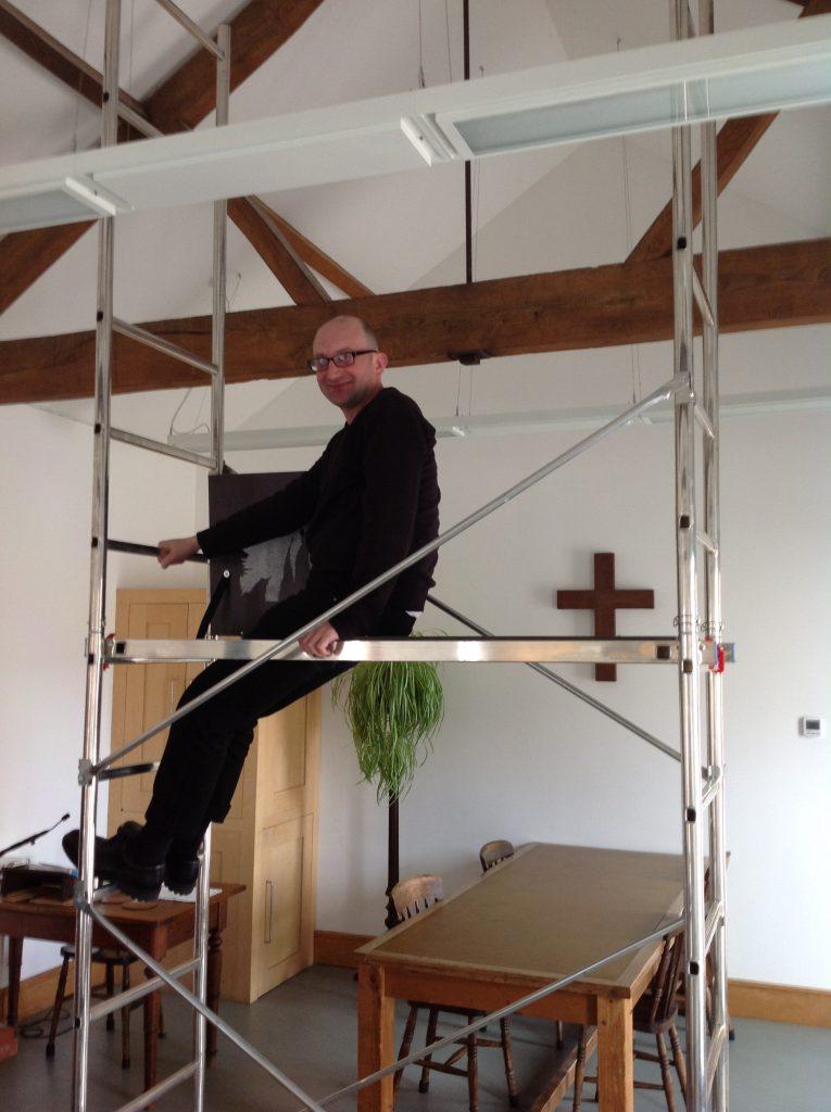 Ian on scaffolding