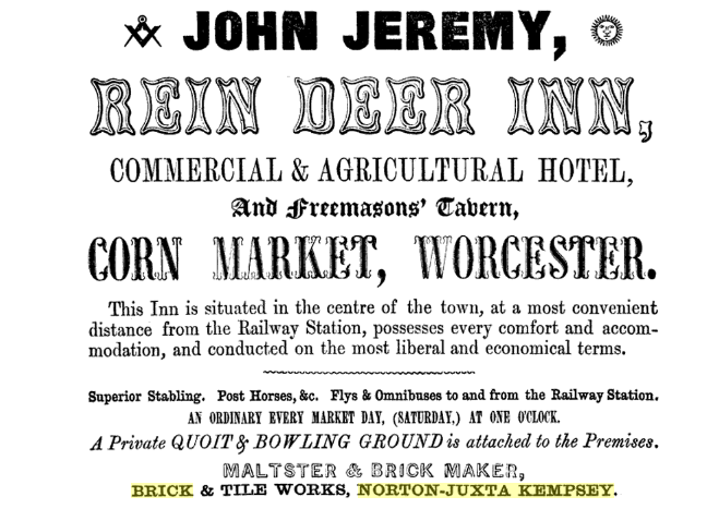 Advert for brick works (1851)