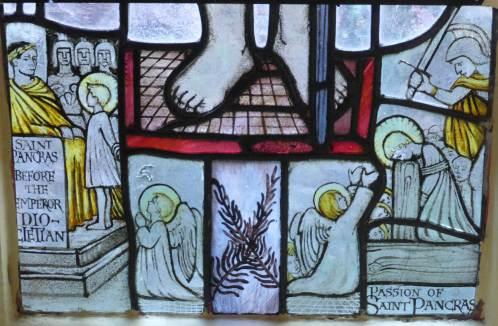 Detail of sanctuary window, West Malvern