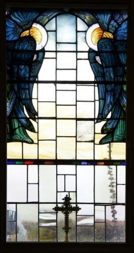 Window at St Mary at the Cross, Glasshampton